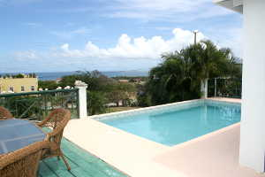 Sea view from Calamansi villa in Nevis